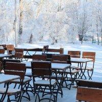 Кафе, зима :: Людмила Самойлова