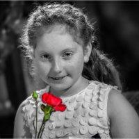 Девочка с красной розой :: Борис Херсонский