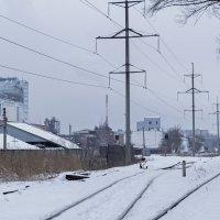 Вид на подъездные пути бийского маслоэкстракционного завода :: Иван Зарубин