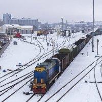 Телповоз ТЭМ2У-9343 на маневрах на станции Бийск :: Иван Зарубин