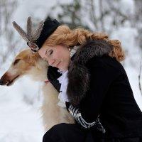 Ольга и русская борзая... :: Андрей Вестмит
