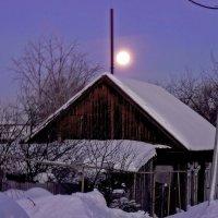 пейзаж с большой луной :: павел бритшев