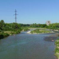 Река   Быстрица   Солотвинская   в    Ивано - Франковске :: Андрей  Васильевич Коляскин