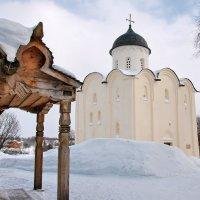 Старая Ладога. Церковь Георгия Победоносца зимой :: Сергей Никитин