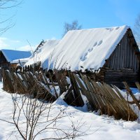 Зима в деревне :: Милагрос Экспосито