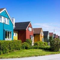 Пёстрые домики. Норвегия :: Алексей Саломатов