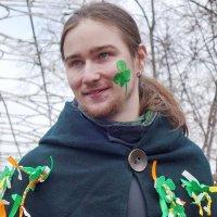 Молодой человек на празднике святого Патрика в парке Сокольники 2017 :: Игорь