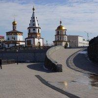 Солнечные блики на Соборе Богоявления :: Nikolay Svetin