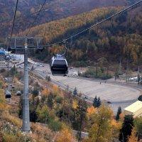 Гондольная дорога от комплекса «Медео» до горнолыжного курорта «Чимбулак». :: Anna Gornostayeva