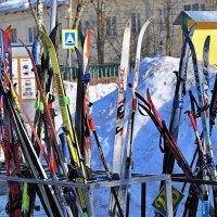 Лыжи у школы стоят, месяц кончается март! :: Татьяна Помогалова