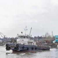 РТ-456 на обколке льда около понтонного моста :: Иван Зарубин