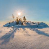 Снежная пустыня с островом :: Фёдор. Лашков