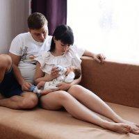 Фотосессия новорожденного дома в Москве. :: Таня Турмалин