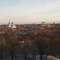 Гатчина со строительных лесов Обелиск Коннетабль реставрация :: Сергей Семенов
