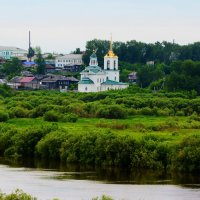 вид на Спасо-Преображенский монастырь , г . Туринск :: Александр