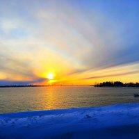 Закат на Сургутском водохранилище :: Алла ZALLA