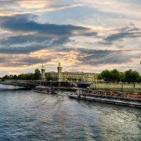 Париж, Сена, закат :: Борис Соловьев