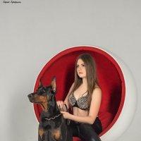 Girl with Doberman. :: Сергей Гутерман
