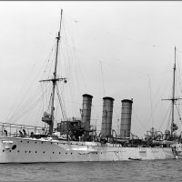 "German light cruiser SMS ""Bremen"" in 1907. :: Александр"