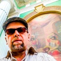 Фреска На Колокольне Церкви Усекновения Главы Иоанна Предтечи под Бором :: Сергей Янович Микк