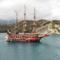 корабль, шхуна, турция, средиземное море :: Александр