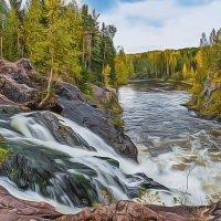 Водопад Кивач, Карелия :: Маргарита Си