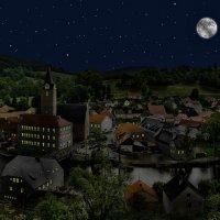Чехия. Рожмберк в лунную ночь :: Андрей Левин