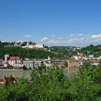 Баварский городок Пассау, граничащий с Чехией и Австрией, находится на острове в окружении трех рек :: Galina Dzubina