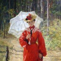 Девушка в красном ... :: Лариса Корженевская