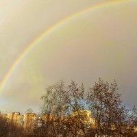 Радуга .Вид из моего окна. :: Ольга Зубова