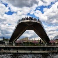 Парящий мост парка Зарядье... :: Юрий Яньков