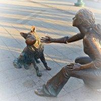 """Будапешт. Скульптура """"Девочка с собакой"""" :: Татьяна Ларионова"""