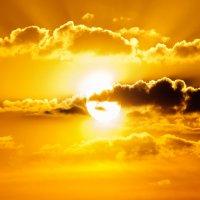 Майское жаркое солнце на закате- :: Анатолий Клепешнёв
