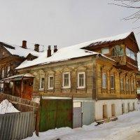 Дома на берегу р.  Волги . 19 в. :: Святец Вячеслав
