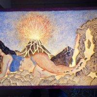 """Картина светильник ХАЛИ""""Девушка лавы"""" :: Медведь"""
