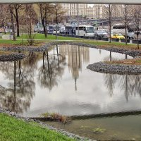 Московские будни, взгляд из под Парящего моста. :: Nina Karyuk