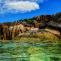 известные камни бухты Патат на Сейшелах :: Георгий А