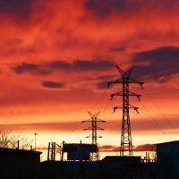 Индустриальный закат :: Полина Потапова
