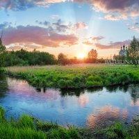 Весенний закат в Тайниском :: Юлия Батурина