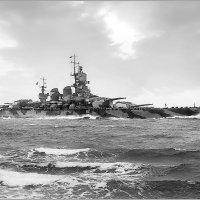 """Italian battleship """"Littorio"""" at sea. :: Александр"""