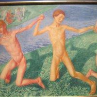 Играющие мальчики (Три мальчика). 1916 г. :: Маера Урусова