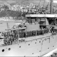 "Imperial Japanese Navy armoured cruiser ""Asama"", Wellington, New Zealand, 1920s. :: Александр"