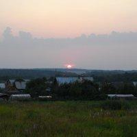 Закат над деревней Лукьяново :: AleksSPb
