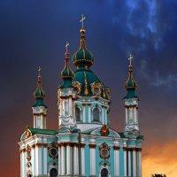 Андреевская церковь на Киевском Монмартре :: Sergey-Nik-Melnik Fotosfera-Minsk