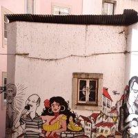Лиссабон. Граффити. Первые исполнители Fado :: Генрих