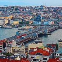 Вид на вечерний Стамбул с Галатской башни :: vadimka