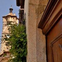 Старинная  водонапорная башня Ротенбурга на Таубере :: backareva.irina Бакарева