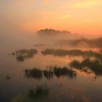 Туманный рассвет на реке Москве :: Евгений (bugay) Суетинов