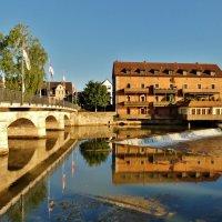 Отражения  в реке Пегнитц :: backareva.irina Бакарева