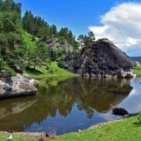 """Шаманское озеро и скала """"Голова кита"""" :: Nina Streapan"""